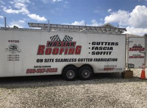 Our Seamless Gutters fabrication trucks are ready to install!