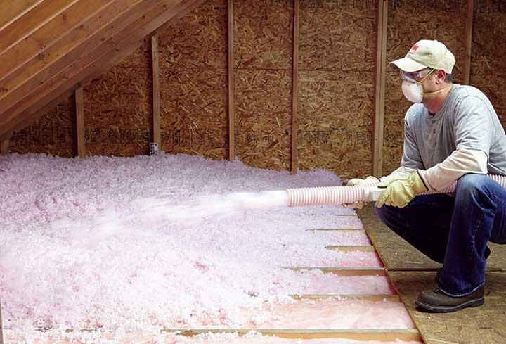 Atticat insulation installation